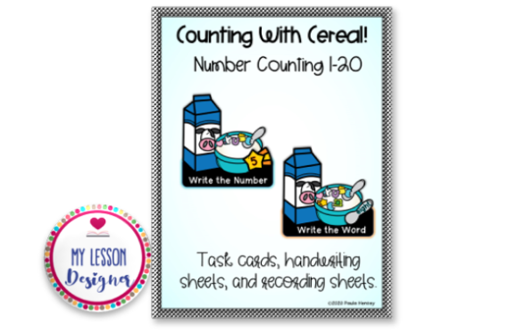 Counting with Cereal-Numbers 1-20 Graphic K By My Lesson Designer