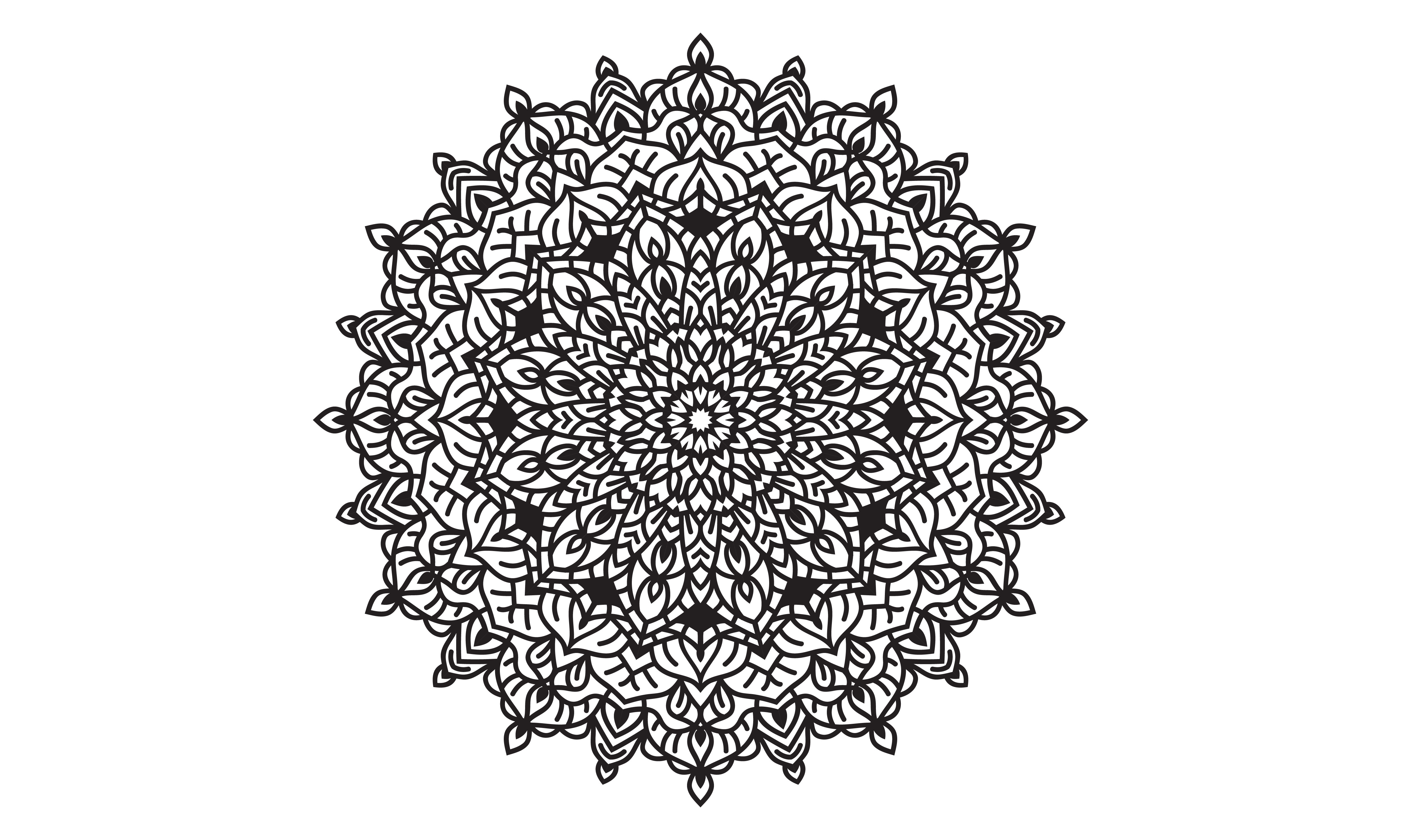 Download Free Creative Flower With Mandala Style Graphic By Be Young for Cricut Explore, Silhouette and other cutting machines.