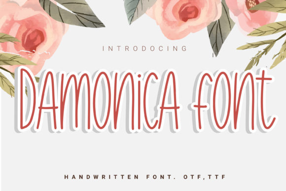 Print on Demand: Damonica Script & Handwritten Font By artdee2554