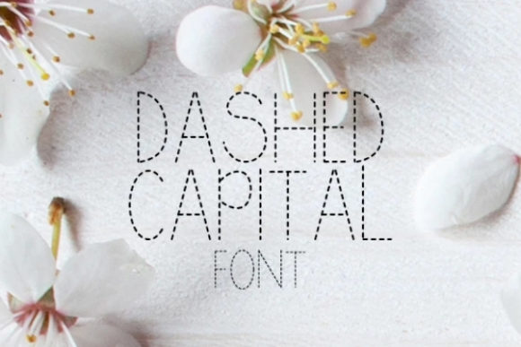 Print on Demand: Dashed Capital Sans Serif Font By carina2