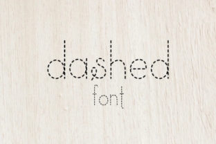 Print on Demand: Dashed Sans Serif Font By carina2