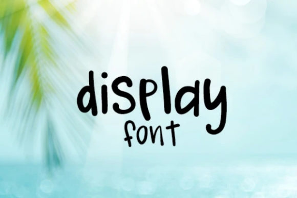 Print on Demand: Display Display Font By carina2