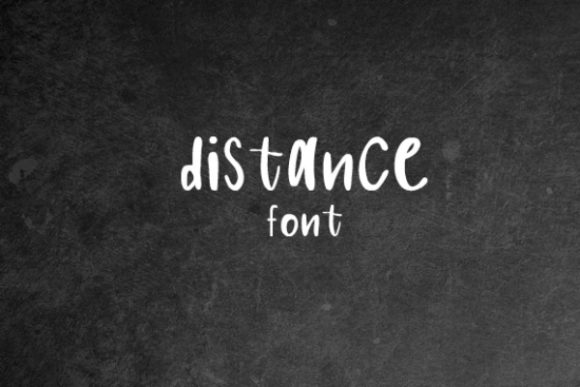 Print on Demand: Distance Display Font By carina2