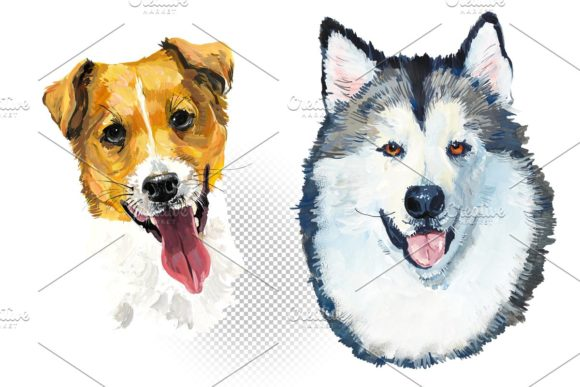 Download Free Dog Breeds Set 2 Graphic By Mariya Kutuzova Creative Fabrica for Cricut Explore, Silhouette and other cutting machines.