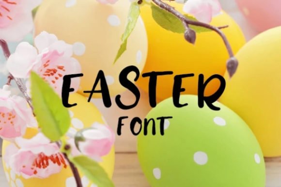 Print on Demand: Easter Display Font By carina2