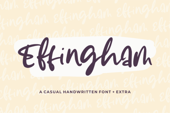 Print on Demand: Effingham Script & Handwritten Font By Azetype - Image 1