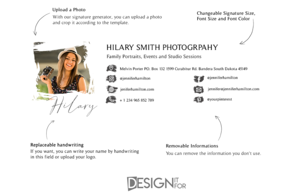 Download Free Email Signature Template With Logo Grafico Por Designitfor for Cricut Explore, Silhouette and other cutting machines.