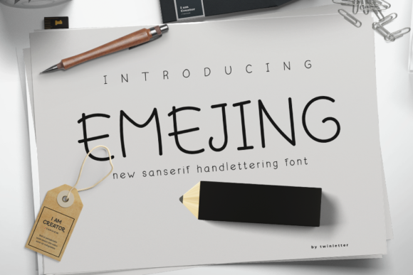 Print on Demand: Emejing Sans Serif Font By twinletter