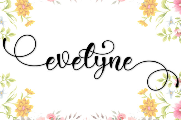 Print on Demand: Evelyne Script & Handwritten Font By niyos.studio