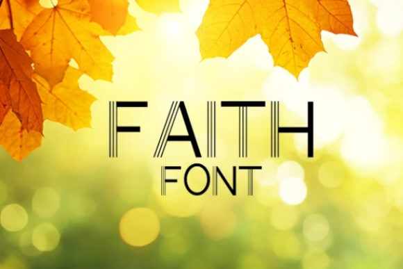 Print on Demand: Faith Sans Serif Font By carina2