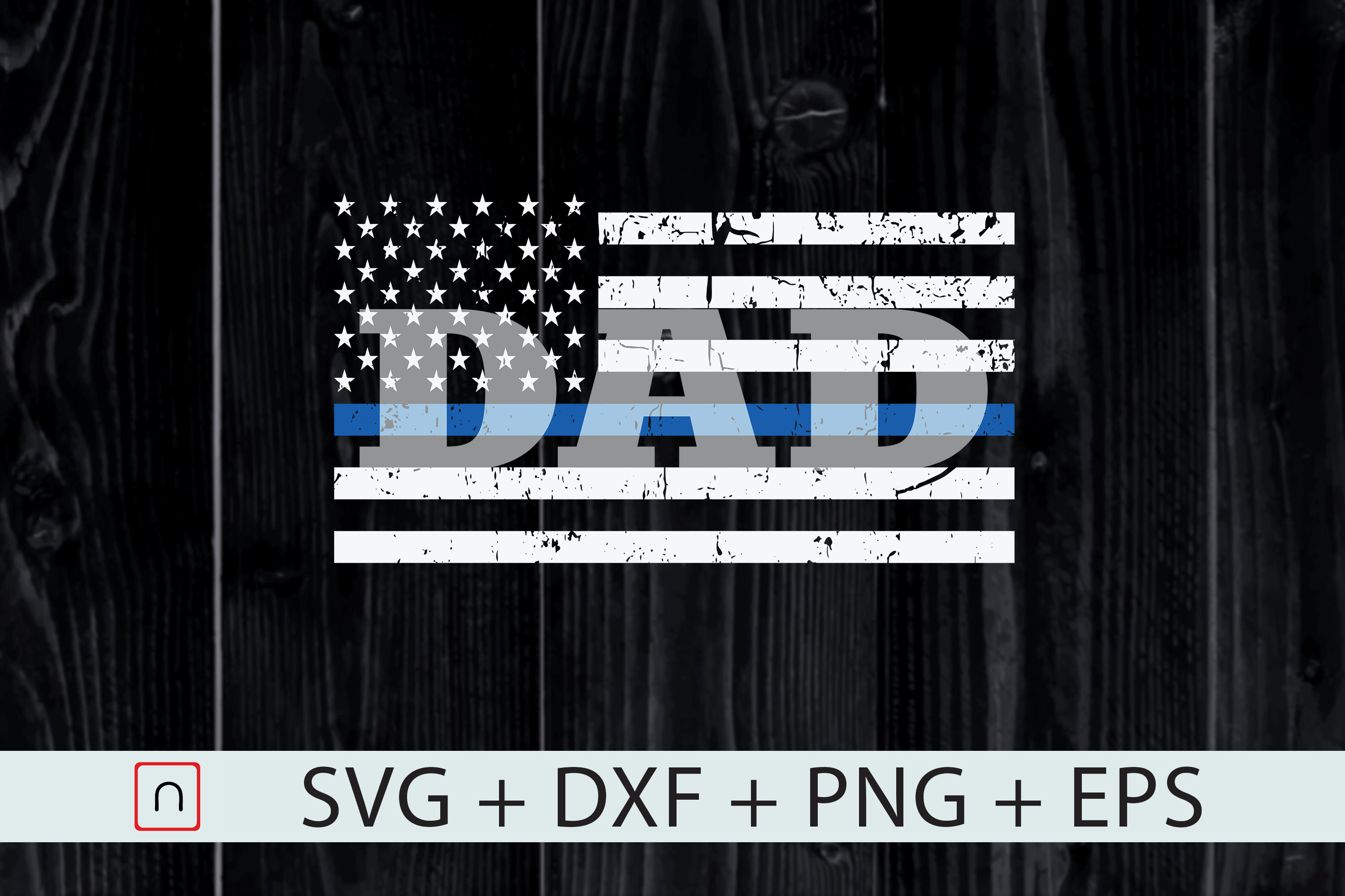 Download Free Father S Day American Flag Graphic By Novalia Creative Fabrica for Cricut Explore, Silhouette and other cutting machines.