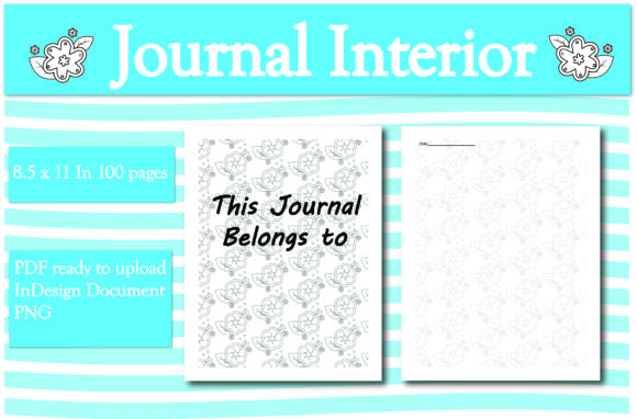 Print on Demand: Floral Journal Interior Graphic KDP Interiors By Ivana Prue