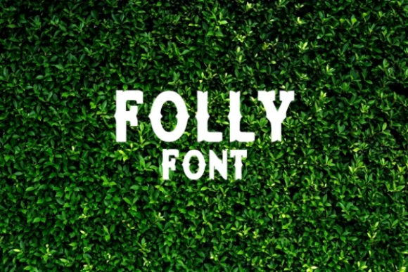 Download Free Folly Font By Carina2 Creative Fabrica for Cricut Explore, Silhouette and other cutting machines.