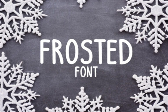 Print on Demand: Frosted Display Font By carina2