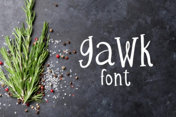 Print on Demand: Gawk Serif Font By carina2