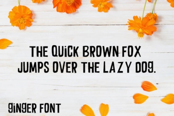 Download Free Ginger Font By Carina2 Creative Fabrica for Cricut Explore, Silhouette and other cutting machines.