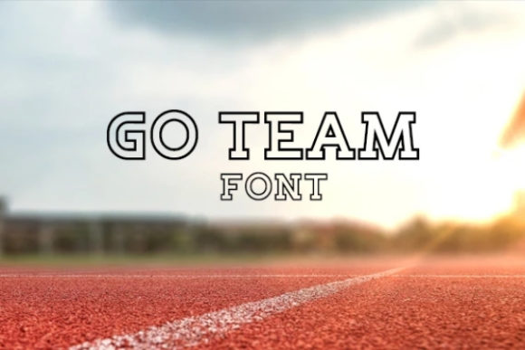 Print on Demand: Go Team Display Font By carina2
