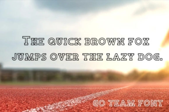 Download Free Go Team Font By Carina2 Creative Fabrica for Cricut Explore, Silhouette and other cutting machines.