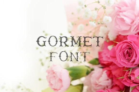 Print on Demand: Gormet Display Font By carina2