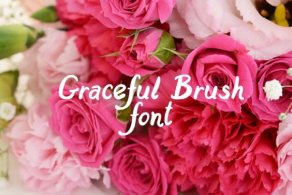 Print on Demand: Graceful Brush Display Font By carina2