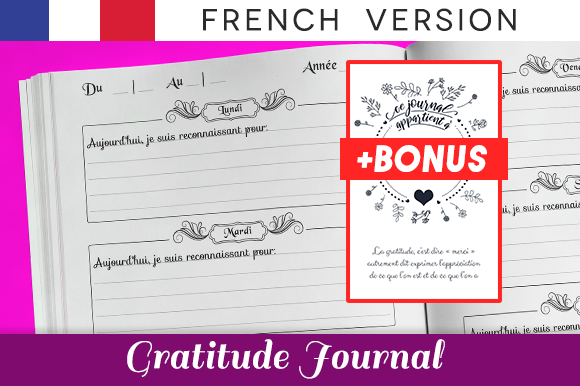 Print on Demand: Gratitude Journal French Version for KDP Graphic KDP Interiors By KDP Interiors