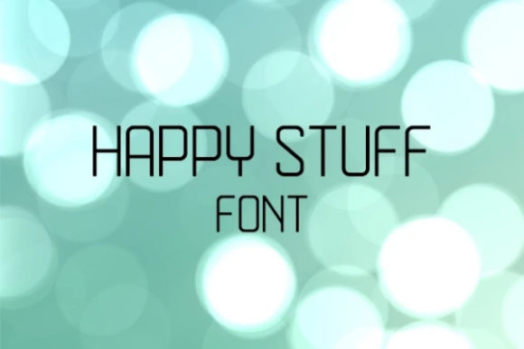 Print on Demand: Happy Stuff Sans Serif Font By carina2