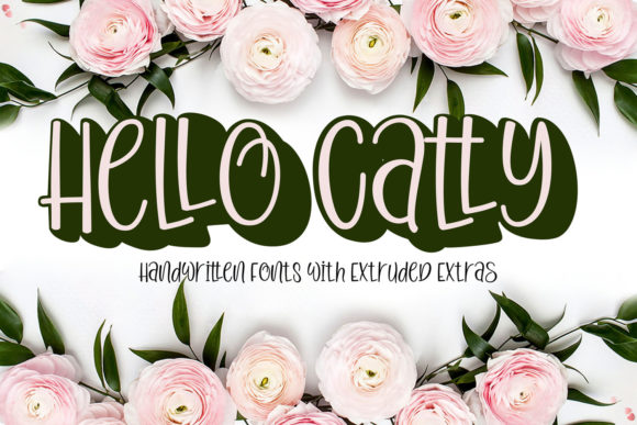 Print on Demand: Hello Catty Script & Handwritten Font By FontCloud