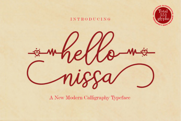 Print on Demand: Hello Nissa Manuscrita Fuente Por Naqsya.Co