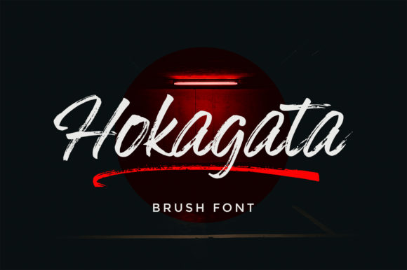 Print on Demand: Hokagata Script & Handwritten Font By fargunstudio