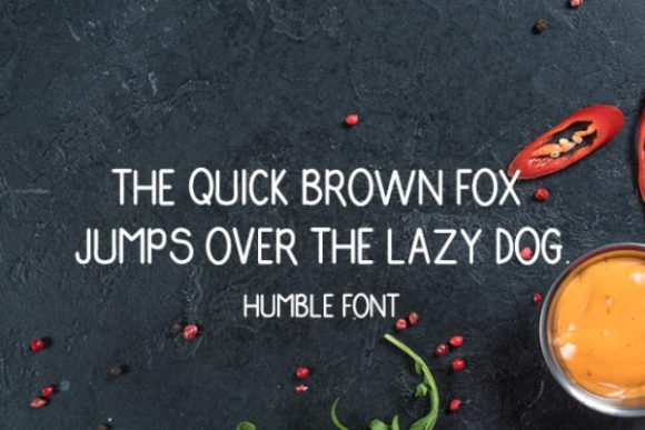 Print on Demand: Humble Display Font By carina2 - Image 2