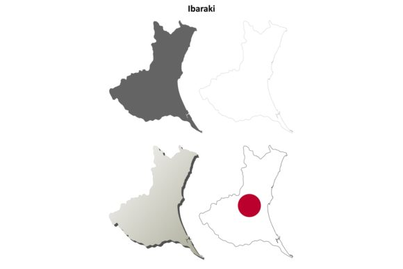 Download Free 1 Ibaraki Map Vector Designs Graphics for Cricut Explore, Silhouette and other cutting machines.