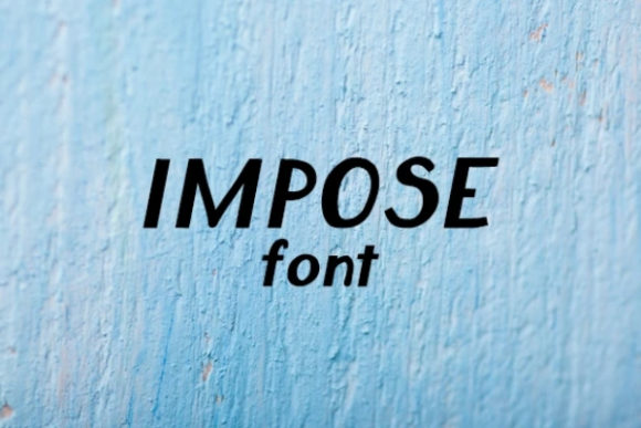 Print on Demand: Impose Display Font By carina2