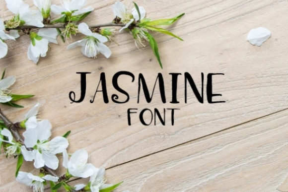 Print on Demand: Jasmine Display Font By carina2