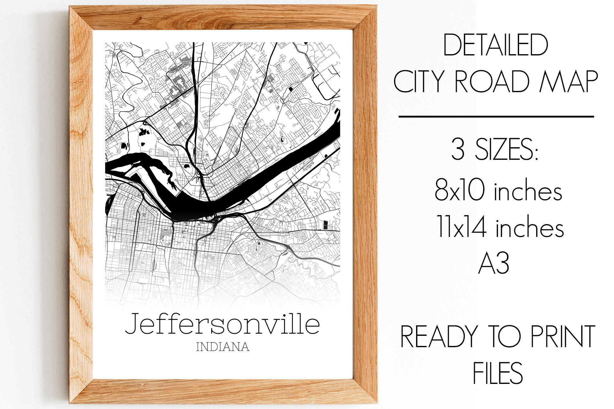 Download Free Jeffersonville Indiana City Map Graphic By Svgexpress Creative for Cricut Explore, Silhouette and other cutting machines.
