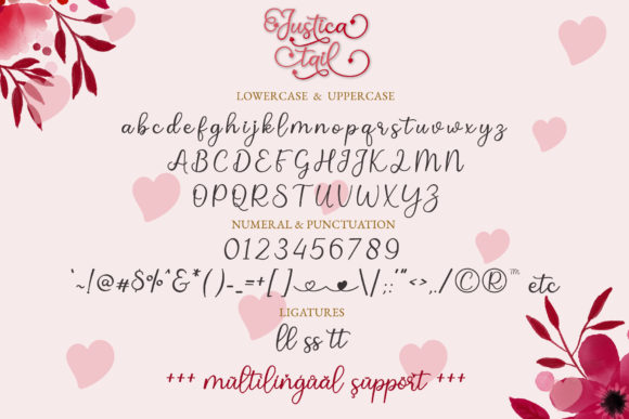 Print on Demand: Justica Tail Script & Handwritten Font By airotype - Image 7