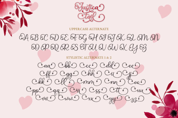 Print on Demand: Justica Tail Script & Handwritten Font By airotype - Image 8