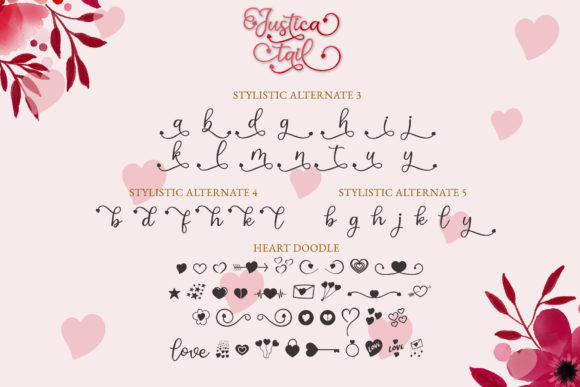 Print on Demand: Justica Tail Script & Handwritten Font By airotype - Image 9