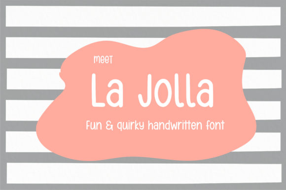 Print on Demand: La Jolla Script & Handwritten Font By sunday nomad