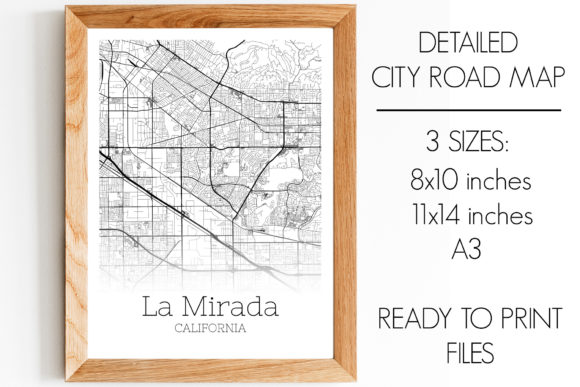 Download Free La Mirada California City Map Graphic By Svgexpress Creative for Cricut Explore, Silhouette and other cutting machines.