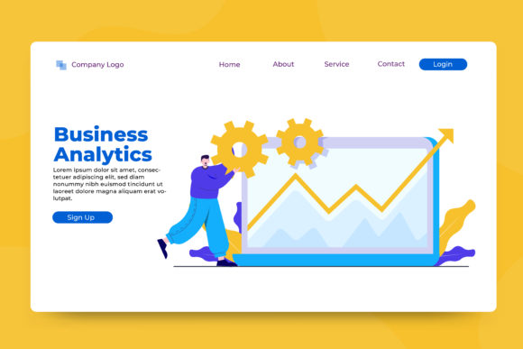 Download Free Illustration Of Business Analysis Graphic By Okevector for Cricut Explore, Silhouette and other cutting machines.