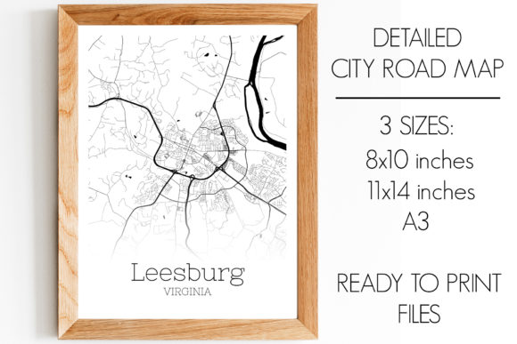 Print on Demand: Leesburg Virginia City Map Graphic Photos By SVGExpress