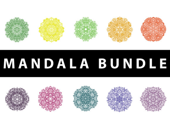 Download Free Mandala Pack Drawing Concept Graphic By Redsugardesign for Cricut Explore, Silhouette and other cutting machines.