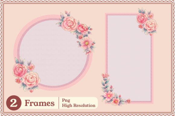 Print on Demand: Meraki Pink Floral Collection Graphic Illustrations By JM_Graphics - Image 7