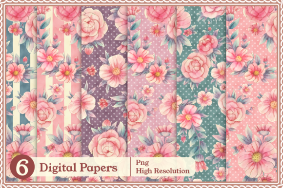 Print on Demand: Meraki Pink Floral Collection Graphic Illustrations By JM_Graphics - Image 8