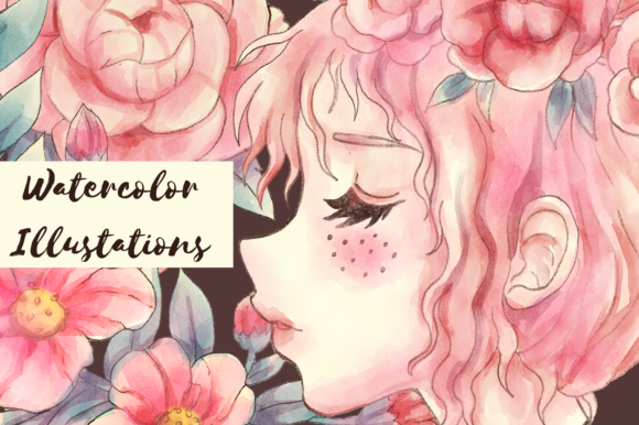 Print on Demand: Meraki Pink Floral Collection Graphic Illustrations By JM_Graphics - Image 9