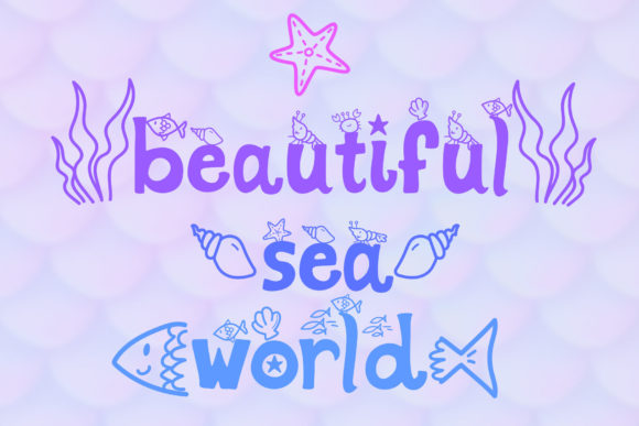 Print on Demand: Mermaid Display Font By numnim - Image 7