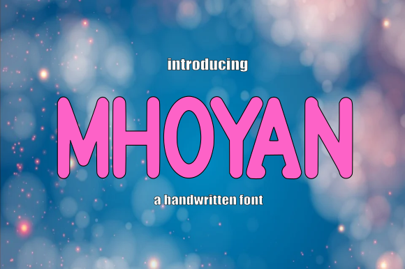 Print on Demand: Mhoyan Display Font By teguh pranata