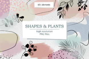 Print on Demand: Modern Smooth Abstract Shapes & Plants Graphic Illustrations By Elena Dorosh Art