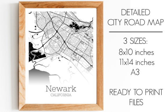 Download Free Newark California City Map Graphic By Svgexpress Creative Fabrica for Cricut Explore, Silhouette and other cutting machines.