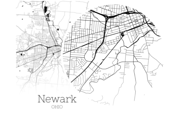 Download Free Newark Ohio City Map Graphic By Svgexpress Creative Fabrica for Cricut Explore, Silhouette and other cutting machines.